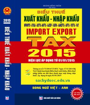 biểu thuế suất hàng hóa xuất nhập khẩu 2014