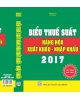 biểu thuế xnk năm 2017, sách biểu thuế xuất nhập khẩu 2017 mới nhất