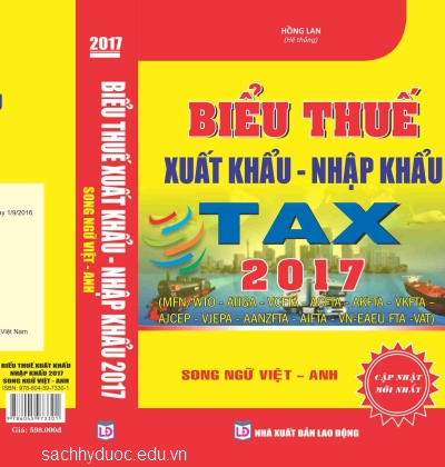 biểu thuế xuất nhập khẩu song ngữ anh việt năm 2015 nxb lao động